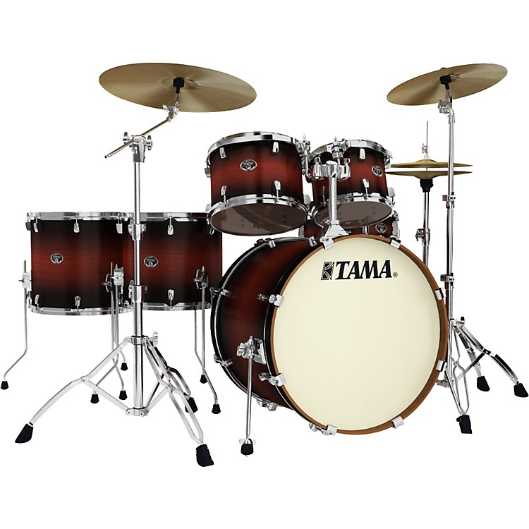 Tama Silverstar Lacquer 6-Piece Accel-Driver Shell Pack Satin Cherry Burst