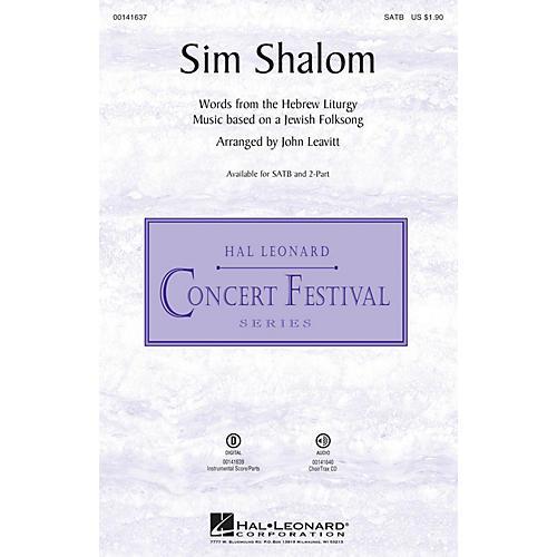 Hal Leonard Sim Shalom SATB arranged by John Leavitt-thumbnail