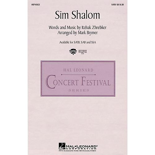 Hal Leonard Sim Shalom SATB arranged by Mark Brymer