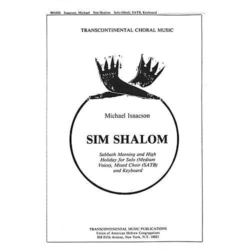 Transcontinental Music Sim Shalom SATB composed by Michael Isaacson-thumbnail