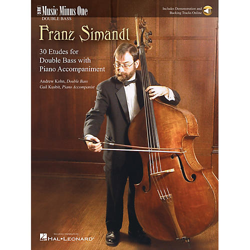 Music Minus One Simandl - 30 Etudes for Double Bass Music Minus One Series Softcover Audio Online by Andrew Kohn-thumbnail