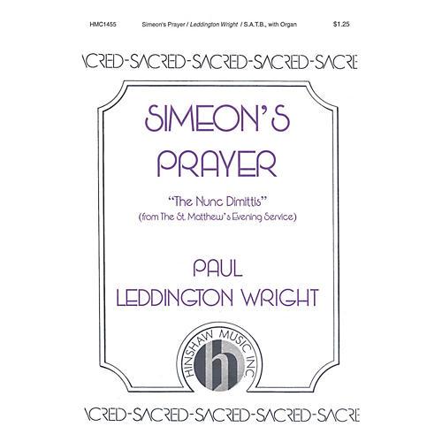 Hinshaw Music Simeon's Prayer SATB composed by Paul Leddington Wright-thumbnail