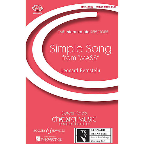 Boosey and Hawkes Simple Song (from Mass) CME Intermediate UNIS composed by Leonard Bernstein-thumbnail