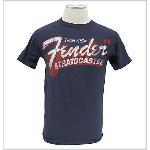 Fender Since 1954 Strat T-Shirt Blue Large