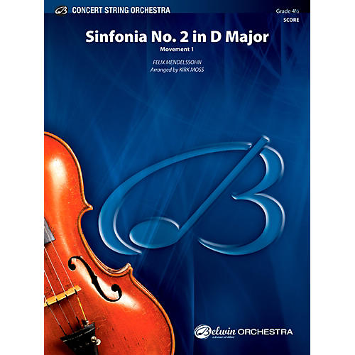 Alfred Sinfonia No. 2 in D Major Concert String Orchestra Grade 4.5 Set