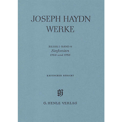 G. Henle Verlag Sinfonias 1764 and 1765 (Edition with Critical Report) Henle Edition Series Hardcover