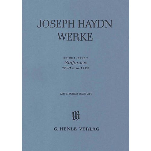 G. Henle Verlag Sinfonias 1773 and 1774 Henle Edition Series Hardcover-thumbnail