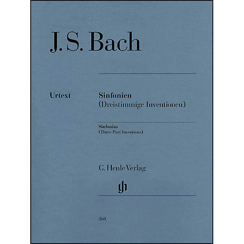 G. Henle Verlag Sinfonias BWV 787-801 (Three Part Inventions) By Bach