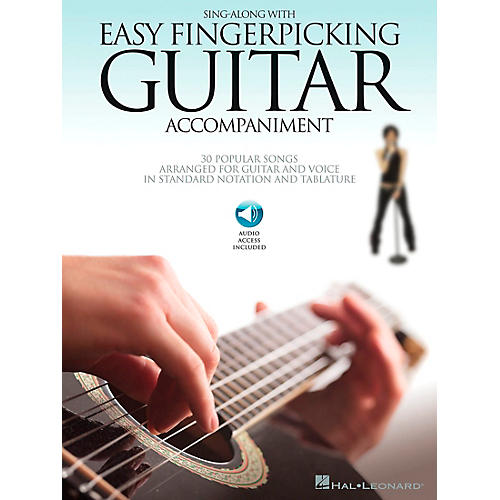 Hal Leonard Sing Along with Easy Fingerpicking Guitar Accompaniment Guitar Collection Softcover with CD by Various-thumbnail