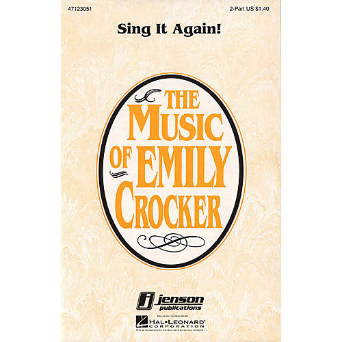Hal Leonard Sing It Again! 2-Part composed by Emily Crocker