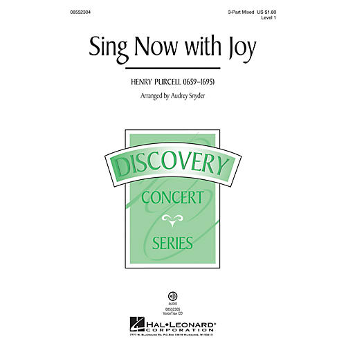 Hal Leonard Sing Now with Joy (Discovery Level 1) 3-Part Mixed arranged by Audrey Snyder-thumbnail
