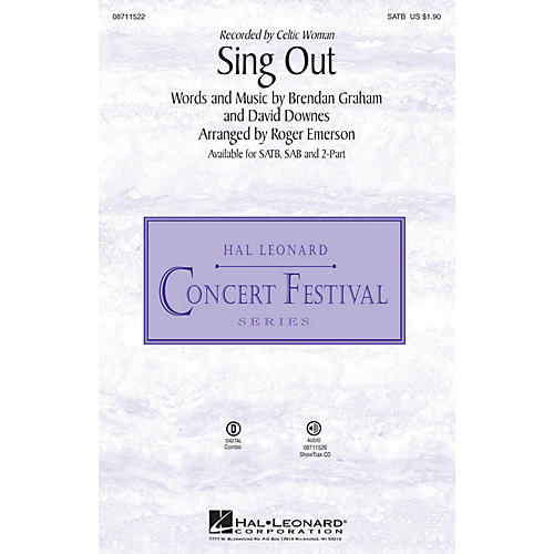 Hal Leonard Sing Out 2-Part by Celtic Woman Arranged by Roger Emerson