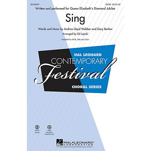 Hal Leonard Sing (Queen Elizabeth's Diamond Jubilee  SATB) SATB arranged by Ed Lojeski-thumbnail