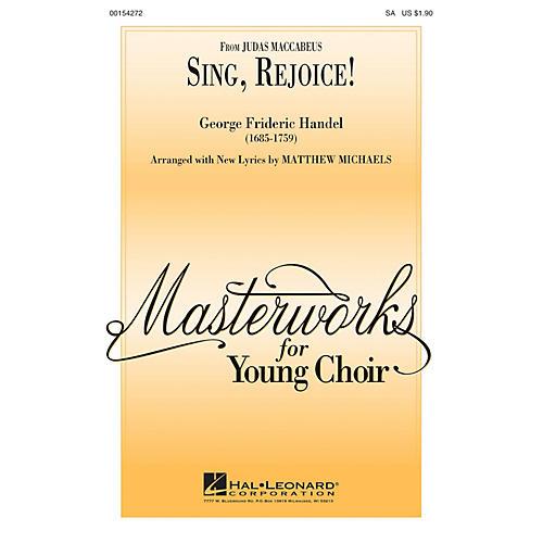 Hal Leonard Sing, Rejoice! SA arranged by Matthew Michaels-thumbnail