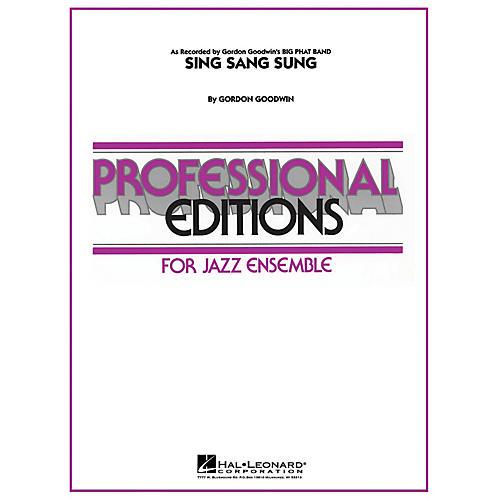 Hal Leonard Sing Sang Sung Full Score Jazz Band