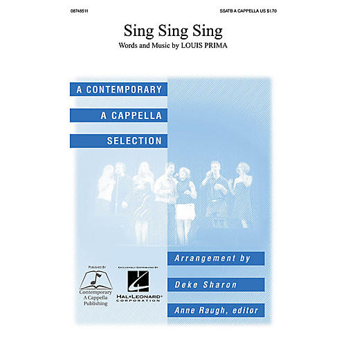 Contemporary A Cappella Publishing Sing, Sing, Sing SSATB A Cappella arranged by Deke Sharon-thumbnail