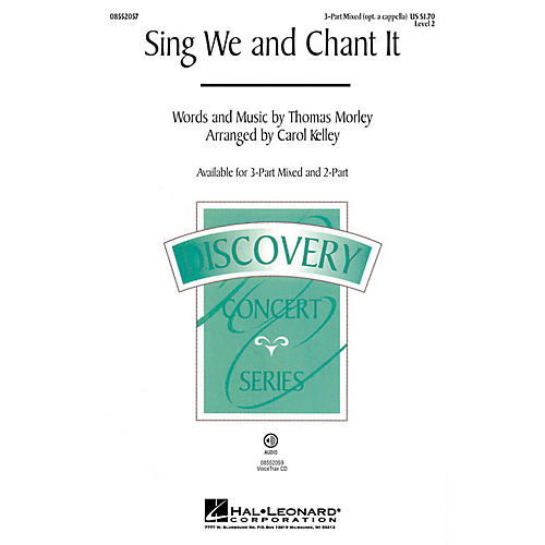 Hal Leonard Sing We and Chant It (Discovery Level 2) 3-Part Mixed opt. a cappella arranged by Carol Kelley-thumbnail
