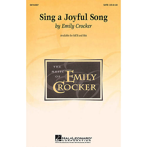 Hal Leonard Sing a Joyful Song SSA Composed by Emily Crocker-thumbnail
