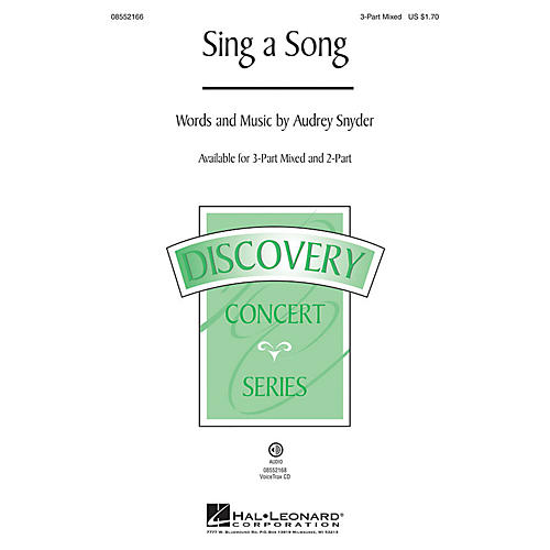 Hal Leonard Sing a Song (Discovery Level 2) VoiceTrax CD Composed by Audrey Snyder
