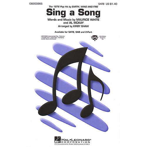 Hal Leonard Sing a Song ShowTrax CD by Wind & Fire Earth Arranged by Kirby Shaw-thumbnail