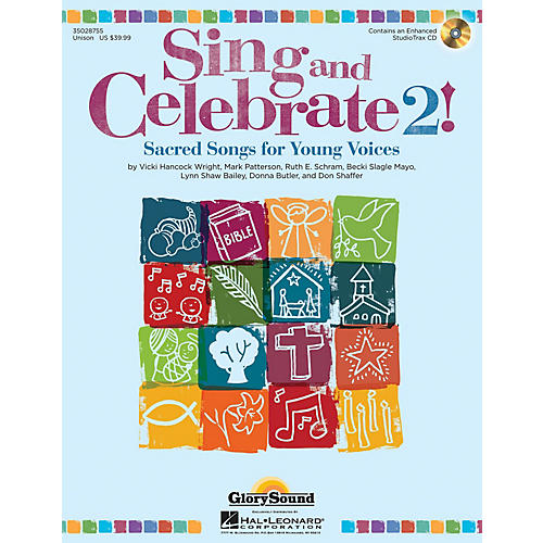 Shawnee Press Sing and Celebrate 2! Sacred Songs for Young Voices Unison Book/CD composed by Vicki Hancock Wright-thumbnail