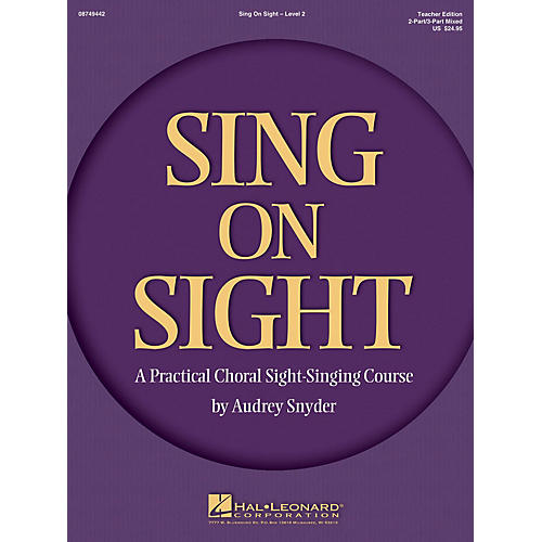 Hal Leonard Sing on Sight - A Practical Sight-Singing Course (Volume 2) 2/3 Part Mixed Teacher Edition-thumbnail