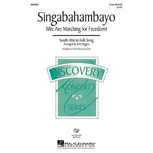 Hal Leonard Singabahambayo (We Are Marching for Freedom) 3-Part Mixed Arranged by John Higgins