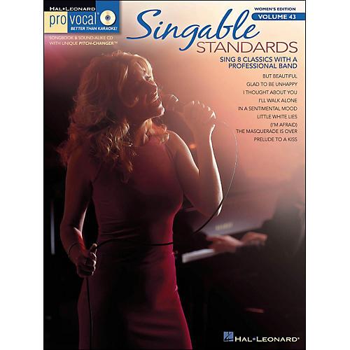 Hal Leonard Singable Standards - Pro Vocal Songbook & CD for Female Singers Volume 43