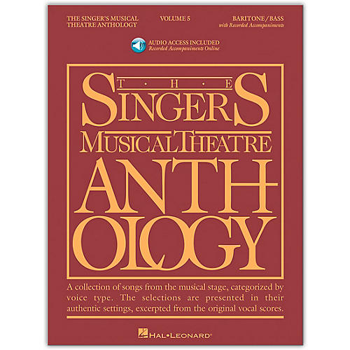 Hal Leonard Singer's Musical Theatre Anthology for Baritone / Bass Vol 5 Book/2CD's