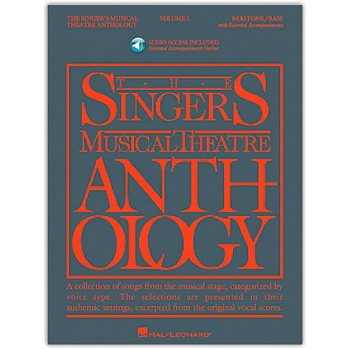 Hal Leonard Singer's Musical Theatre Anthology for Baritone / Bass Volume 1 Book/2CD's