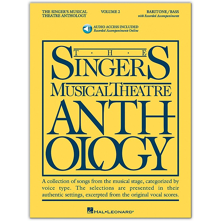 Hal Leonard Singer's Musical Theatre Anthology for Baritone / Bass Volume 2 Book/2CD's