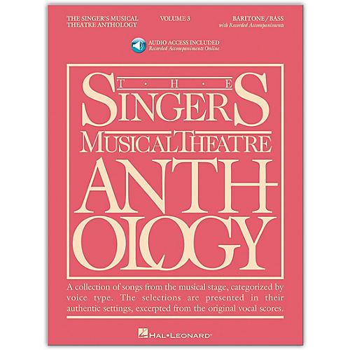 Hal Leonard Singer's Musical Theatre Anthology for Baritone / Bass Volume 3 Book/2CD's