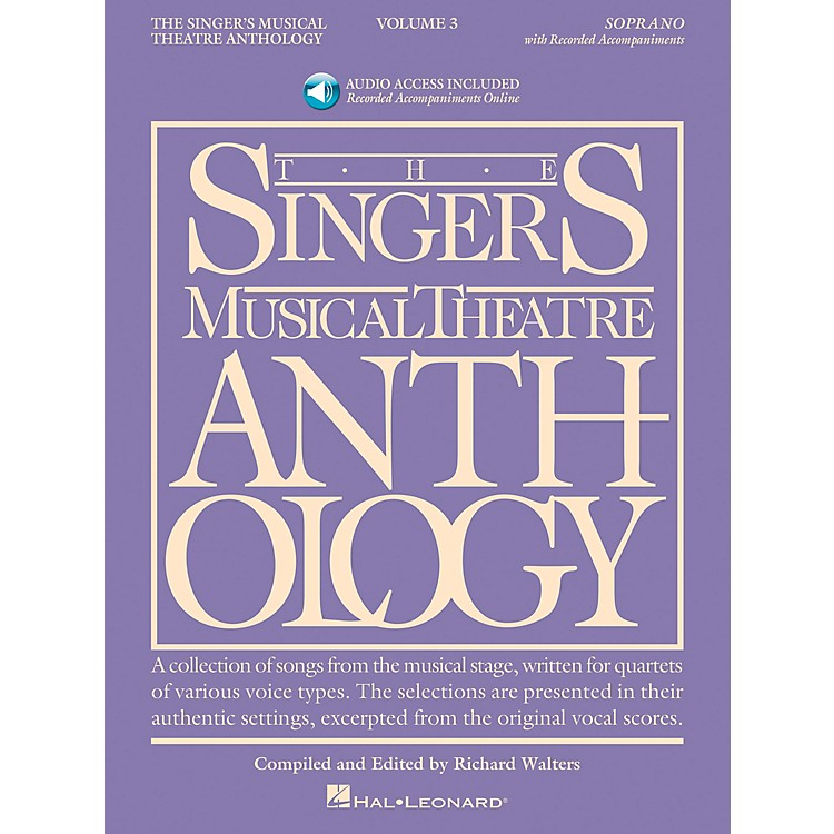 Hal Leonard Singer's Musical Theatre Anthology for Soprano Volume 3 Book/2CD's