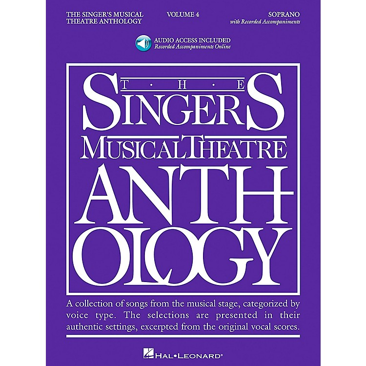 Hal Leonard Singer's Musical Theatre Anthology for Soprano Volume 4 Book/2CD's