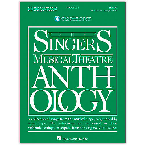 Hal Leonard Singer's Musical Theatre Anthology for Tenor Volume 4 Book/Online Audio