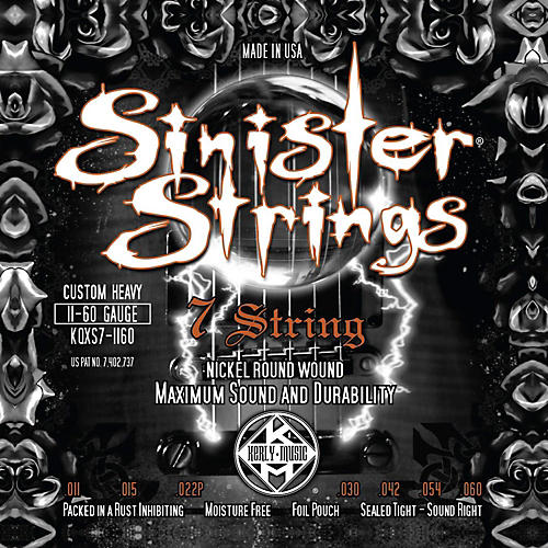 Kerly Music Sinister Strings NPS 7 String Custom Heavy Electric Guitar Strings