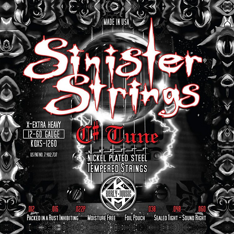 Kerly MusicSinister Strings NPS C# Tune Extra Heavy Electric Guitar Strings