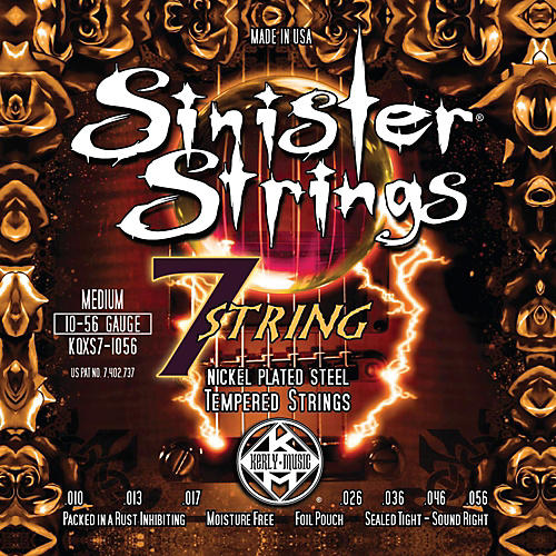 Kerly Music Sinister Strings Nickel Wound Electric Guitar Strings - 7-String Medium