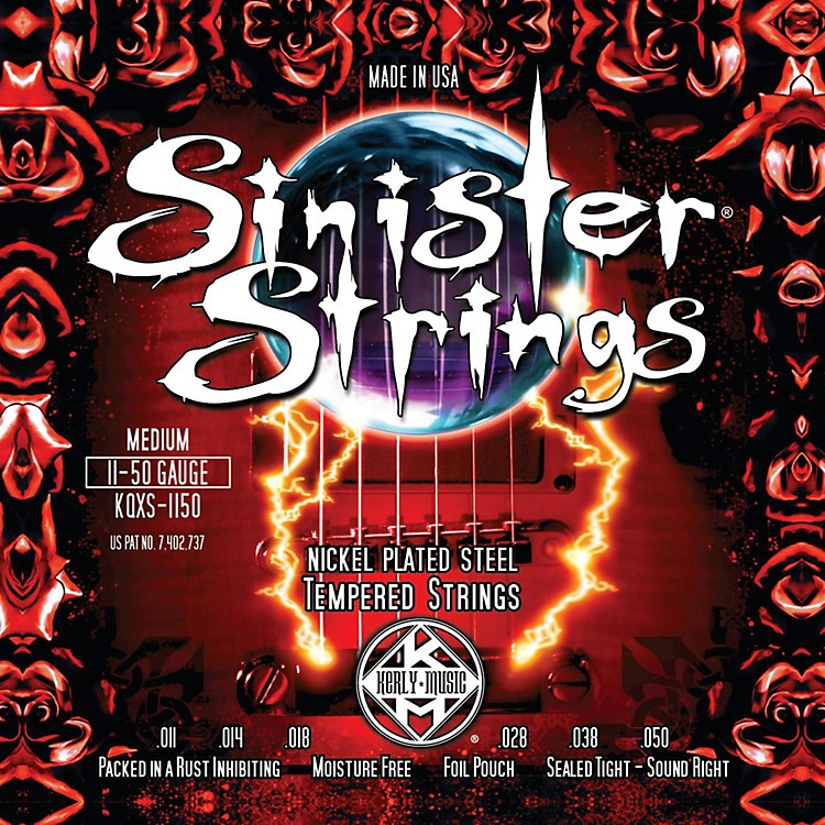 Kerly Music Sinister Strings Nickel Wound Electric Guitar Strings - Medium