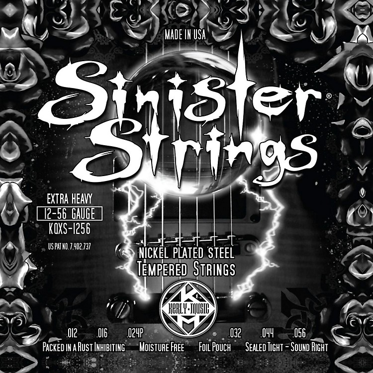 Kerly Music Sinister Strings Nickel Wound Electric Guitar Strings Extra Heavy