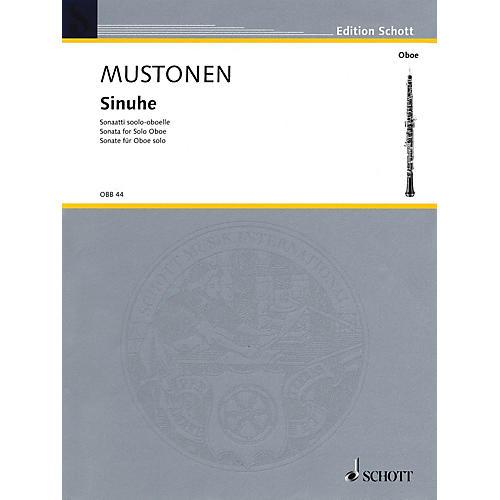 Schott Sinuhe (Sonata for Solo Oboe) Woodwind Solo Series
