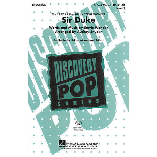 Hal Leonard Sir Duke 2-Part by Stevie Wonder Arranged by Audrey Snyder
