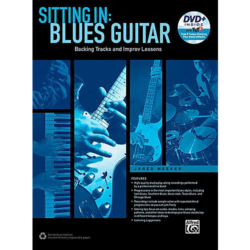 Alfred Sitting In: Blues Guitar Book & DVD-ROM-thumbnail