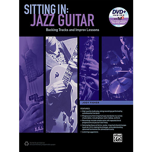 Alfred Sitting In: Jazz Guitar Book & DVD-ROM-thumbnail