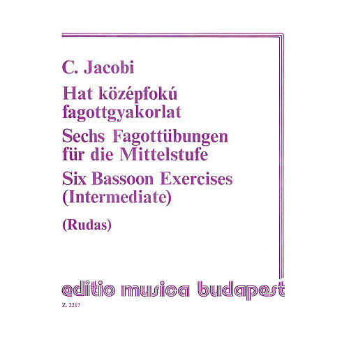 Editio Musica Budapest Six 6 Bassoon Exercises EMB Series-thumbnail
