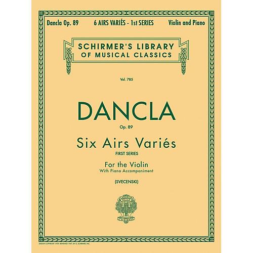 G. Schirmer Six Airs Varies Op 89 Violin Piano By Dancla