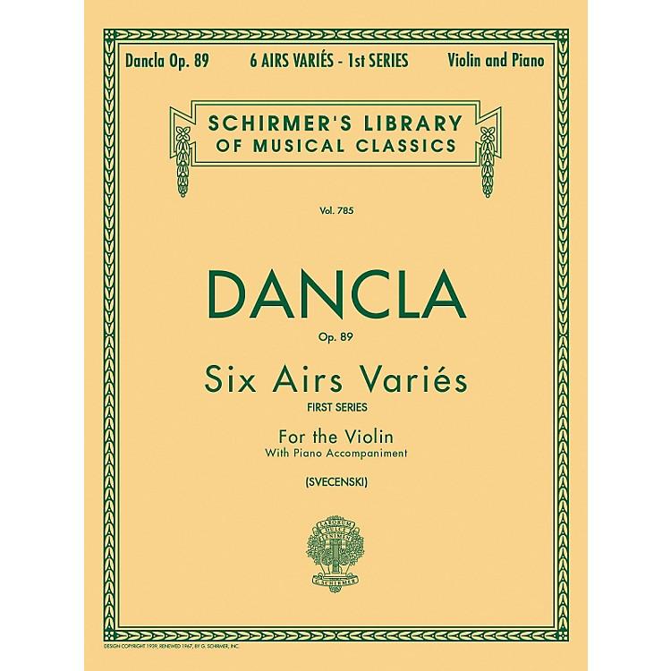 G. SchirmerSix Airs Varies Op 89 Violin Piano By Dancla