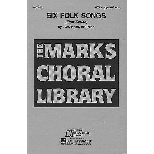 Edward B. Marks Music Company Six Folk Songs (Collection) SATB a cappella composed by Johannes Brahms-thumbnail