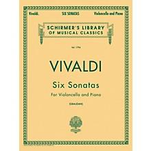 G. Schirmer Six Sonatas for Violoncello And Piano By Vivaldi