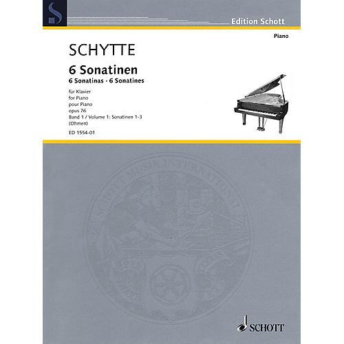 Schott Six Sonatinas, Op. 76, Vol. 1 (Nos. 1-3) Schott Softcover Composed by Schytte Edited by Wilhelm Ohmen-thumbnail